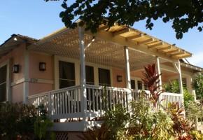 The front lanai at the Kauai Beach Inn