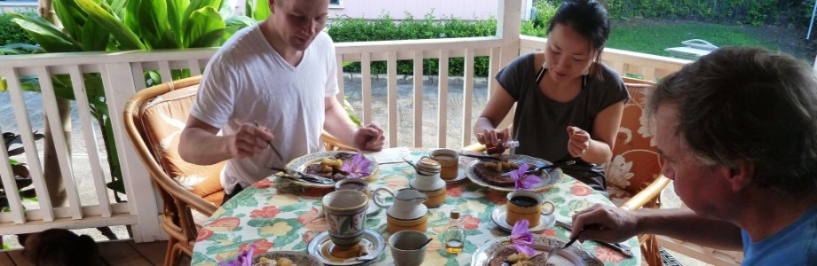 Guests often enjoy their breakfast on the back lanai