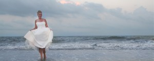 Bride at Hawaiian Beach Wedding