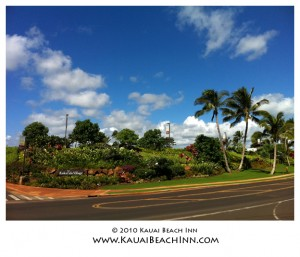 Entrance to Kukui'ula Village Shopping Plaza
